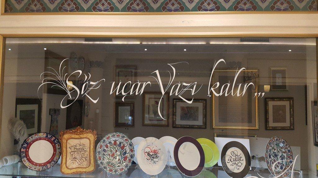 kaligrafi örnekleri - cam üzerine kaligrafi